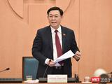 Ông Vương Đình Huệ - Bí thư Thành uỷ Hà Nội (Ảnh: UBND TP HN)