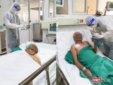 Bà A. (bên trái) và ông H. (bên phải) mắc COVID-19 nặng đều được điều trị tại Khoa Cấp cứu, Bệnh viện Bệnh Nhiệt đới Trung ương (Ảnh - MT)