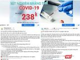 Hàng loạt trang Faacebook của các phòng khám, bệnh viện quảng cáo xét nghiệm kháng thể COVID-19 (Ảnh - MT)
