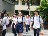 Các thí sinh sắp bước vào kỳ thi tuyển sinh lớp 10