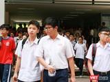 Thí sinh dự thi tuyển sinh tại Trường Trung học Thực hành, Đại học Sư phạm TP.HCM vào sáng 5/6