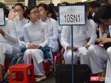 Học sinh trường THPT chuyên Lê Hồng Phong. Ảnh: Hòa Bình