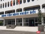 Bệnh viện Bệnh Nhiệt đới TP HCM thông tin tình trạng sức khỏe ca ca 32 nhiễm COVID-19. Ảnh: N.T