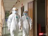 Các bác sĩ tại BV Dã chiến Củ Chi (TP.HCM). Ảnh: N.T