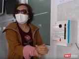 BV Thống Nhất trang bị máy rửa tay ở nhiều khu vực giúp người bệnh tiện lợi rửa tay sát khuẩn,chống dịch COVID-19. Ảnh: BV Thống Nhất TP.HCM