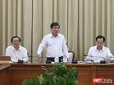 Ông Nguyễn Thành Phong - Chủ tịch UBND TP.HCM tại cuộc họp Ban chỉ đạo phòng, chống COVID-19 chiều 29/2. Ảnh: Sỹ Đông