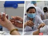 Tiêm vaccine ngừa COVID-19 cho nhân viên y tế - Ảnh: Hoà Bình ghép