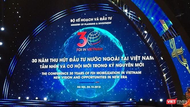 Khung cảnh Hội nghị 30 năm đầu tư nước ngoài tại Việt Nam (Ảnh: Phạm Duy)