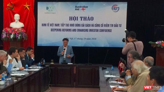 Khung cảnh buổi hội thảo Kinh tế Việt Nam: Tiếp tục dòng cải cách và củng cố niềm tin đầu tư (Ảnh: P.D)