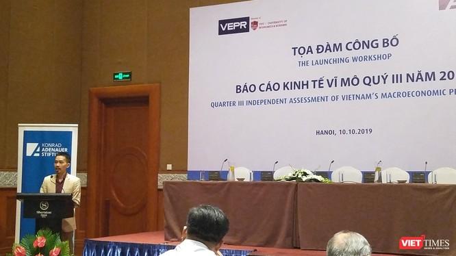PGS.TS Nguyễn Đức Thành - Viện trưởng VEPR - phát biểu tại buổi tọa đàm
