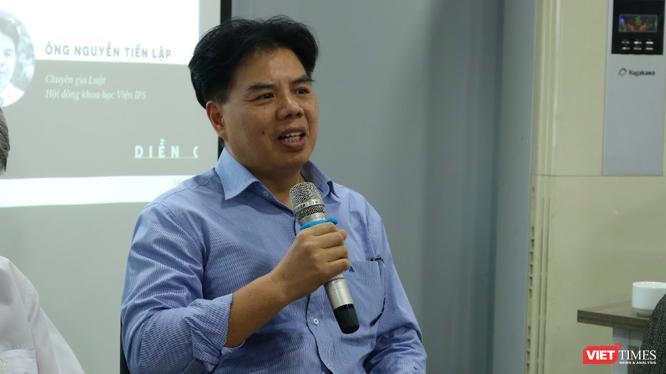 Luật sư Nguyễn Tiến Lập phát biểu tại buổi tọa đàm (Ảnh: Chi Lê)