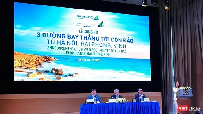 Toàn cảnh buổi lễ công bố đường bay thẳng tới Côn Đảo của Bamboo Airways (Ảnh: P.D)