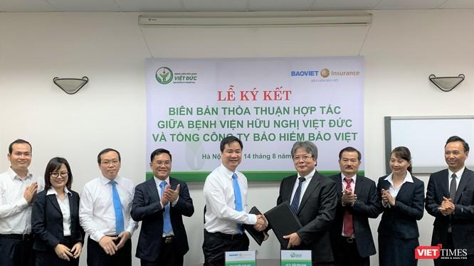 Bệnh viện Hữu nghị Việt Đức và Tổng công ty Bảo hiểm Bảo Việt ký kết biên bản hợp tác