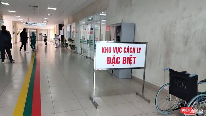 Khu vực cách ly đặc biệt tại bệnh viện (Ảnh: Minh Thúy)