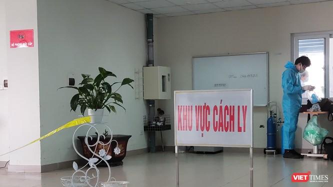 Khu vực cách ly bệnh nhân COVID-19 (ảnh: Minh Thúy)