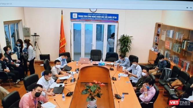 Công tác chuẩn bị cho buổi khai trương nền tảng hỗ trợ khám, chữa bệnh từ xa ở Bệnh viện Đại học Y Hà Nội đã sẵn sàng