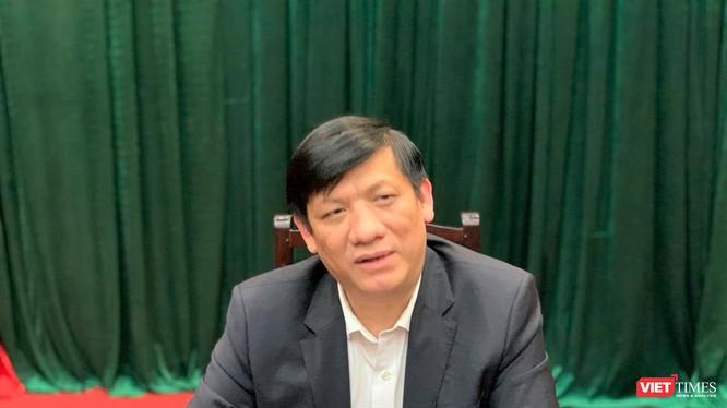 Quyền Bộ trưởng Bộ Y tế Nguyễn Thanh Long (Ảnh: Thanh Hằng)