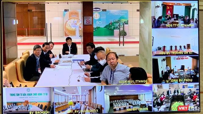 Bộ trưởng Bộ Y tế Nguyễn Thanh Long họp trực tuyến với các BV dã chiến của Hải Dương và Quảng Ninh.