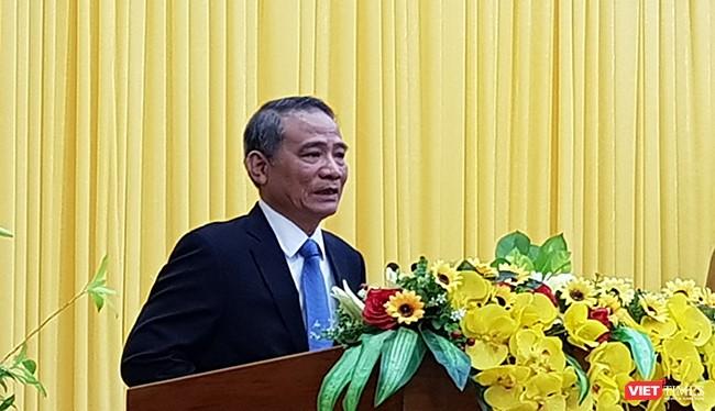 ông Trương Quang Nghĩa, Bộ trưởng Bộ GTVT, phát biểu tại buổi công bố quyết định giữ cương vị Bí thư Thành ủy Đà Nẵng nhiệm kỳ 2015-2020