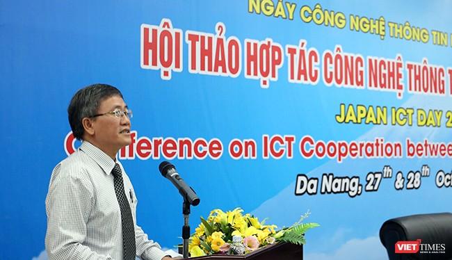 Ông Nguyễn Quang Thanh, Giám đốc Sở TT & TT TP Đà Nẵng chia sẻ tại Hội thảo. Ảnh Hồ Xuân Mai.