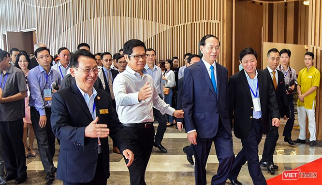 Chủ tịch nước Trần Đại Quang tại buổi tổng duyệt công tác phục vụ Tuần lễ Cấp cao APEC tại Đà Nẵng