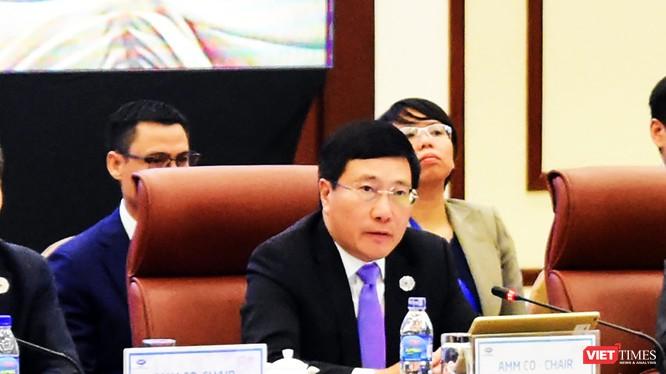 Phó Thủ tướng, Bộ trưởng Ngoại giao Phạm Bình Minh, Chủ tịch Ủy ban Quốc gia APEC 2017 chủ trì Hội nghị liên Bộ trưởng Ngoại giao - Kinh tế (AMM) lần thứ 29 của Diễn đàn Hợp tác kinh tế châu Á – Thái Bình Dương (APEC)