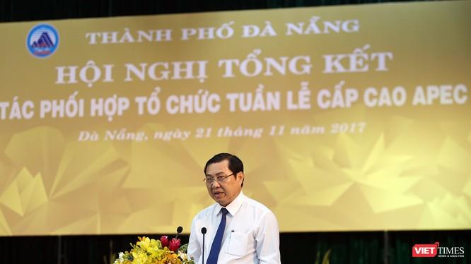 Chủ tịch UBND TP Đà Nẵng Huỳnh Đức Thơ đã đọc thư cảm ơn của Chủ tịch nước Trần Đại Quang gửi đồng bào, đồng chí và chiến sĩ thành phố Đà Nẵng