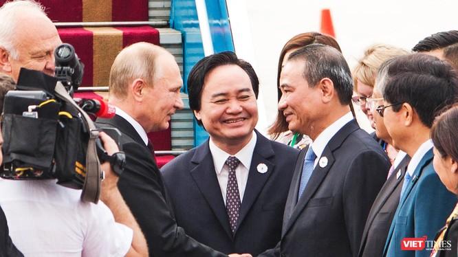 Bí thư Thành ủy Đà Nẵng Trương Quang Nghĩa tại buổi đón Tổng thống Nga Putin đến Đà Nẵng tham dự Tuần lễ cấp cao APEC 2017