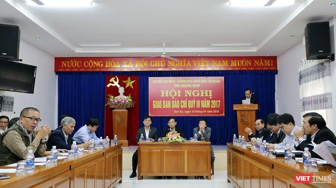 Chiều 15/1, Ban Tuyên giáo Tỉnh ủy Quảng Nam đã tổ chức Hội nghị Giao ban báo chí quý 4/2017 và định hướng Quý 1/2018.