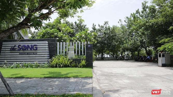 Công trình dự án Khu du lịch biển The Song Đà Nẵng, một điển hình vi phạm trật tự xây dựng diễn ra trên địa bàn quận Ngũ Hành Sơn