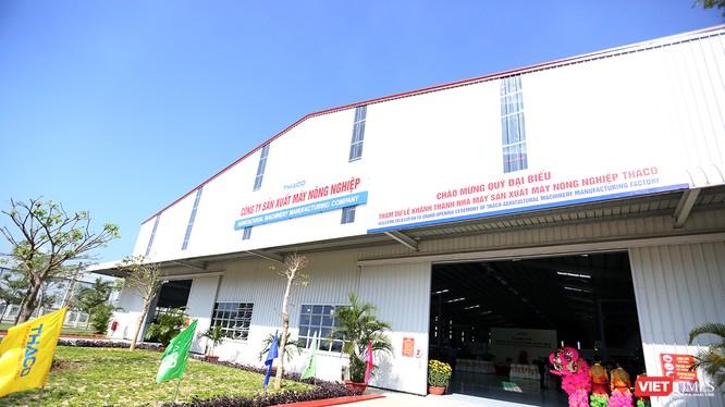 Nhà máy sản xuất Máy nông nghiệp Thaco tại Khu phức hợp cơ khí ô tô Chu Lai-Trường Hải thuộc Khu KTM Chu Lai, tỉnh Quảng Nam