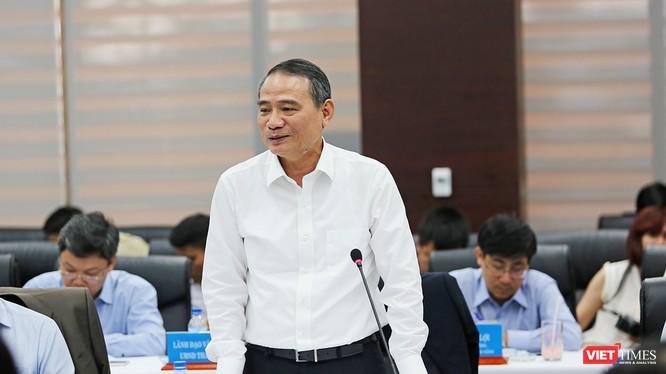 Bí thư Thành ủy Đà Nẵng Trương Quang Nghĩa phát biểu tại buổi làm việc với đoàn công tác Bộ GTVT diễn ra chiều ngày 2/3