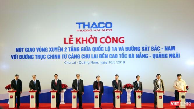 Sáng 10/3, Bộ GTVT, UBND tỉnh Quảng Nam và Công ty CP ô tô Trường Hải (Thaco) đã chính thức khởi công xây dựng nút giao vòng xuyến 2 tầng giữa QL1A và đường sắt Bắc-Nam với trục chính từ Cảng Chu Lai đi Cao tốc Đà Nẵng-Quảng Ngãi.