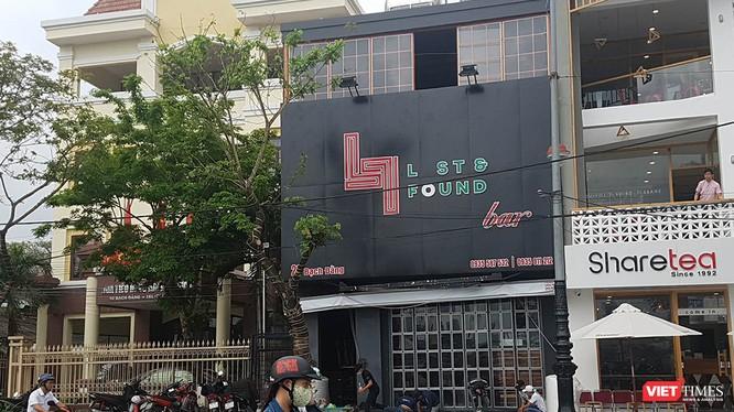 Quán Bar Lost & Found, địa chỉ số 28 Bạch Đằng, nơi xảy ra vụ hành hung và khống chế phóng viên đang tác nghiệp