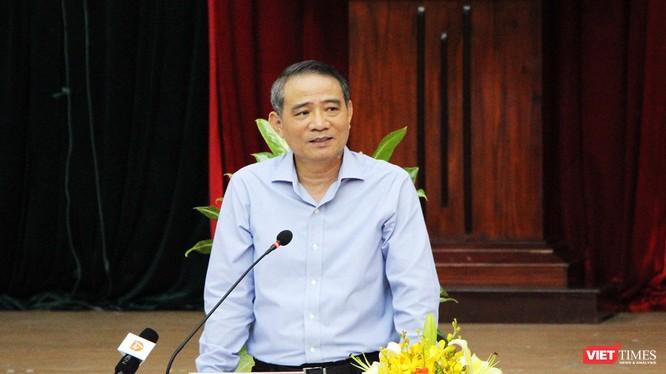 Bí thư Thành ủy Đà Nẵng Trương Quang Nghĩa tại buổi làm việc với lãnh đạo Quận ủy, UBND quận Liên Chiểu diễn ra sáng nay (14/3)
