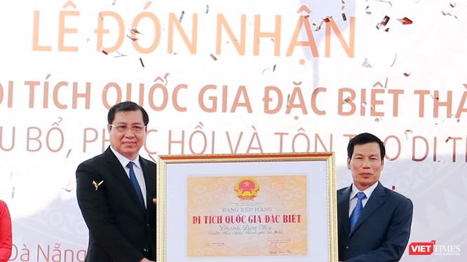 Sáng 29/3, UBND TP Đà Nẵng tổ chức Lễ đón nhận Bằng xếp hạng Di tích quốc gia đặc biệt đối với Thành Điện Hải và khởi công Dự án tu bổ, phục hồi, tôn tạo di tích giai đoạn 1 đối với công trình đặc biệt này.
