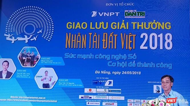 ông Đỗ Vũ Anh, Thành viên Hội đồng Thành viên Tập đoàn VNPT phát biểu tại buổi giao lưu và phát động Giải thưởng Nhân tài Đất Việt 2018