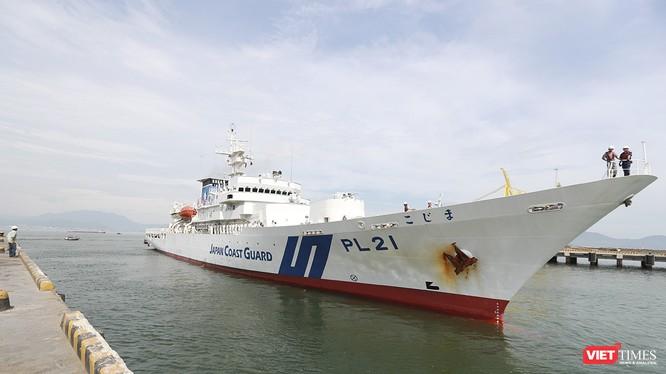 Sáng 24/7, tàu Lực lượng bảo vệ bờ biển Nhật Bản - Kojima cùng thủy thủ đoàn 80 người đã đến thăm TP Đà Nẵng.