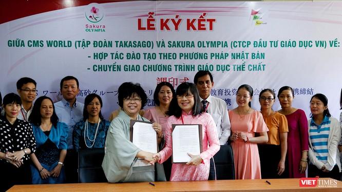 Lễ ký kết chuyển giao chương trình giáo dục tiên tiến của Nhật Bản cho Hệ thống giáo dục Sakura-Olympia (Đà Nẵng).