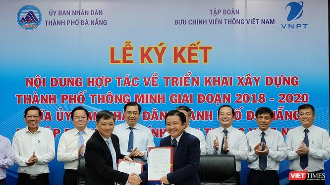 Ngày 6/8, UBND TP Đà Nẵng đã ký kết biên bản hợp tác với Tập đoàn Bưu chính Viễn thông Việt Nam (VNPT) để triển khai xây dựng thành phố thông minh giai đoạn 2018-2020.