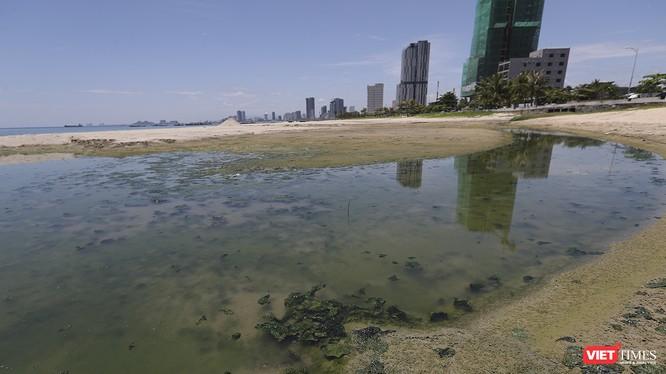 Cận cảnh một cống xả nước thải ra biển Đà Nẵng trên địa bàn Sơn Trà