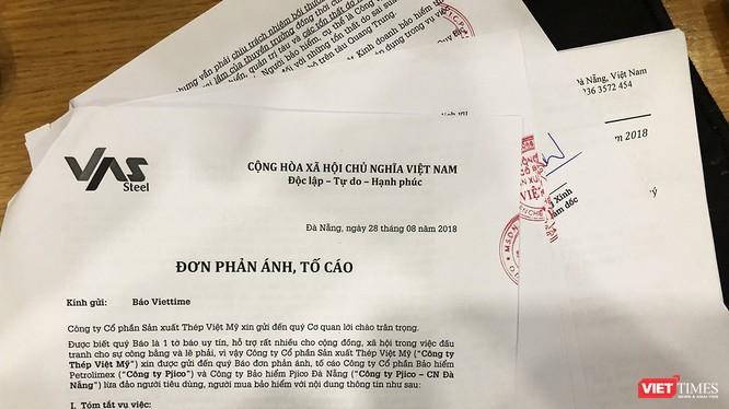 Công ty Cổ phần Sản xuất Thép Việt Mỹ tố Pjico Đà Nẵng đã lừa người mua bảo hiểm.