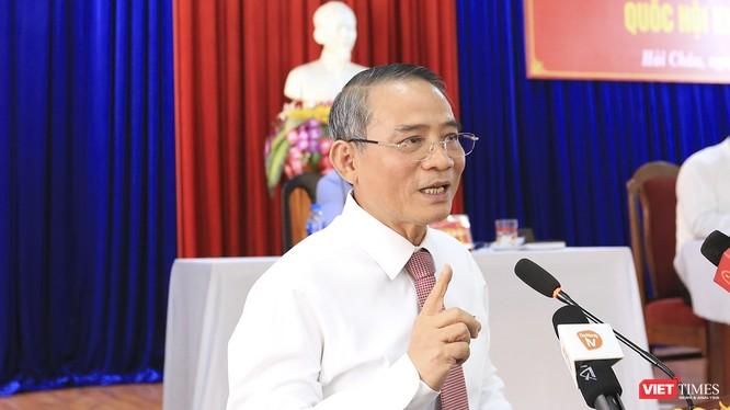 Bí thư Thành ủy Đà Nẵng Trương Quang Nghĩa tại buổi tiếp xúc cử tri quận Hải Châu của Đoàn đại biểu Quốc hội TP Đà Nẵng