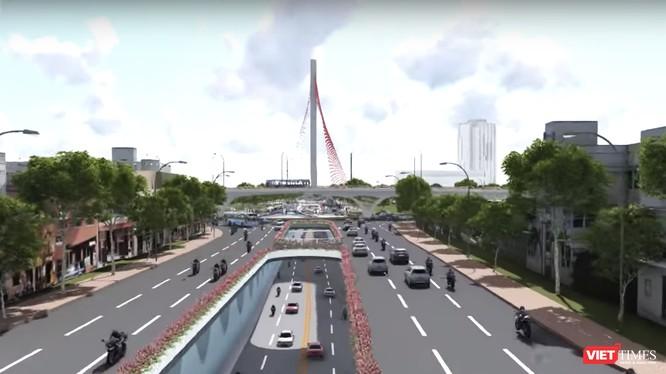 Đà Nẵng sẽ xây nút giao thông 3 tầng phía tây cầu Trần Thị Lý hơn 550 tỷ đồng vào cuối năm 2018.
