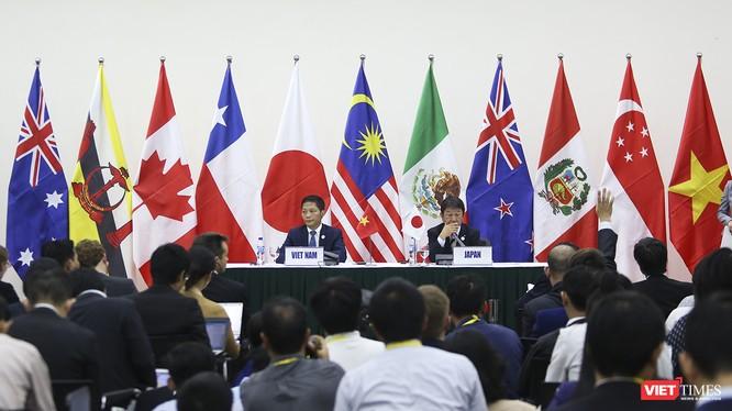 Bộ trưởng Bộ Công thương Việt Nam tại buổi ký kết Hiệp định Đối tác Toàn diện và Tiến bộ xuyên Thái Bình Dương với Nhật Bản trong khuôn khổ Tuần lễ cấp cao APEC 2017 diễn ra tại Đà Nẵng