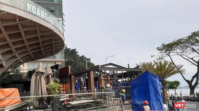 Cơ quan chức năng quận Hải Châu đã thực hiện cưỡng chế tháo dỡ Nhà hàng El Gaucho xây trái phép.