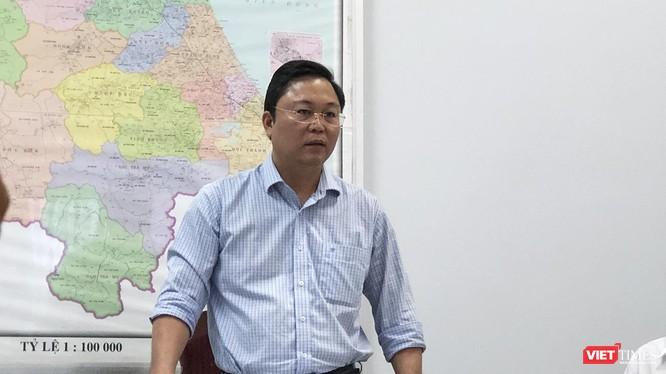 ông Lê Trí Thanh-Phó Chủ tịch UBND tỉnh Quảng Nam trả lời báo giới sau phiên tiếp dân đối với hơn 1.000 người mua đất tại 3 dự án do Công ty CP Bách Đạt An làm chủ đầu tư