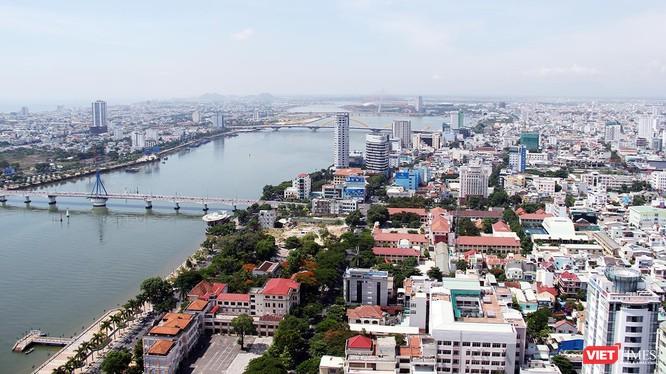 Một góc TP Đà Nẵng nhìn từ trên cao