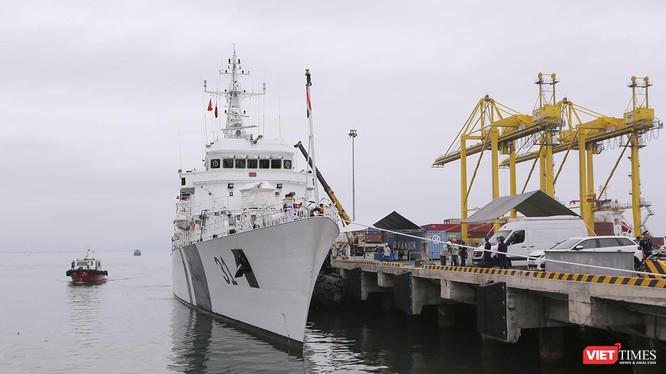 Tàu quân sự ICGS VIJIT thuộc Lực lượng Bảo vệ bờ biển Ấn Độ tại Cảng Tiên Sa (Đà Nẵng)