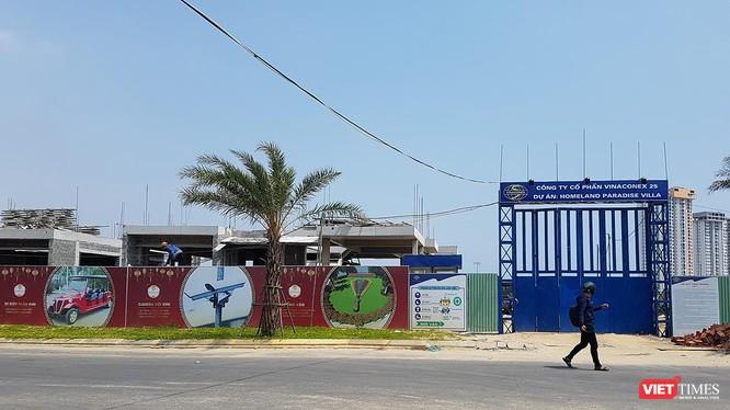 Một góc công trình Khu biệt thự Song Lập do DanaHome Land làm chủ đầu tư tại Khu đô thị số 6-Khu đô thị mới Điện Nam-Điện Ngọc